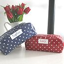 Personalised Spotty Cosmetic Bag
