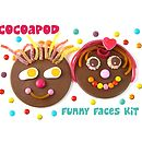 Chocolate Funny Faces Kit For Children
