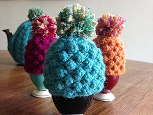 Hand Knitted Egg Cosy - egg cups & cosies