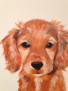 Dog Portraits By Commission - paintings & canvases for children