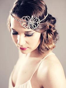 Anna Vintage Bridal Headband - wedding fashion