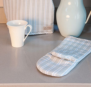 Ledbury Blue Grey Ovenmitt - oven gloves & mitts