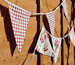 Floral And Check Bunting - children's decorative accessories