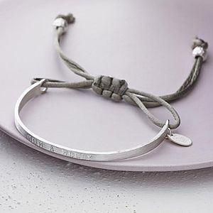 Personalised Silver Friendship Bracelet