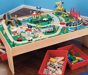 Train Table And Train Set - toy boxes