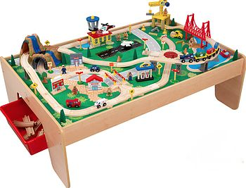 Personalised Train Table And Train Set