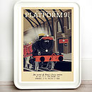 Harry Potter Platform Retro Travel Print