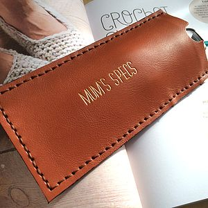 Personalised Tan Glasses Case - fashion