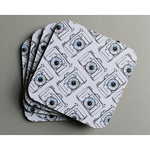 Camera Coaster Set - placemats & coasters