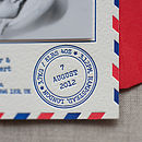 Letterpress Postal Service Birth Announcement