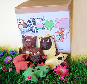 Chocolate Farmyard Hamper - sweet treats