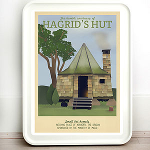 Harry Potter Hagrid Retro Travel Print