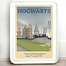 Harry Potter Hogwarts Retro Travel Print