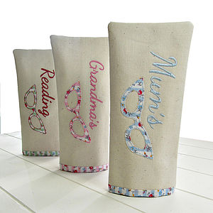 Personalised Applique Glasses Case