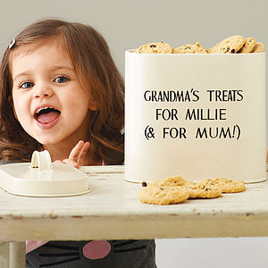 Personalised Enamel Storage Tin - 30 best gifts for grandparents