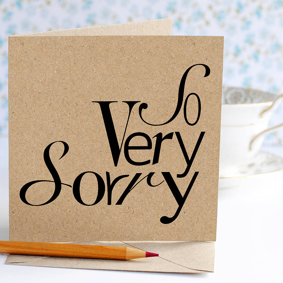 image regarding Printable Sorry Cards identify Therefore Extremely Sorry Card