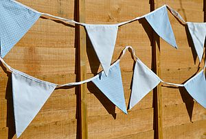 Blue And White Polka Dot Bunting - home