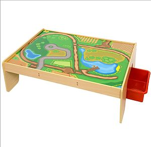 Train Play Table - toy boxes