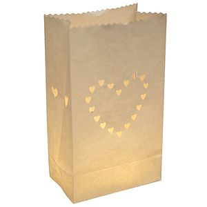 Pack Of 10 Heart Paper Lanters - lights & lanterns