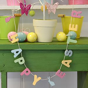 Happy Easter Garland - bunting & garlands