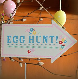 Easter Egg Hunt Arrow Sign - garden