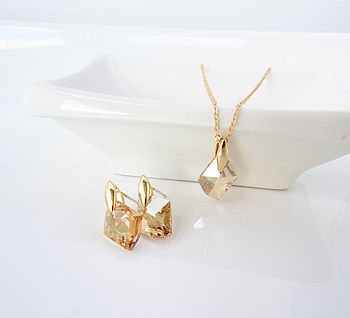Gold Swarovski Gift Set