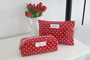 Personalised Spot Wash And Cosmetic Bag Set - travel & luggage