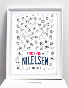 Personalised Wedding Guest Book Print A3 Or A2 - albums & guest books