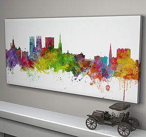 York England Skyline Cityscape - canvas prints & art