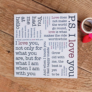 Whole Lotta Love Card; Love Quotes