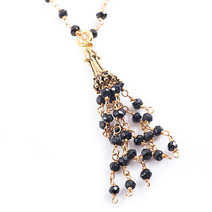 Long Spinnel Tassel Necklace - women's jewellery