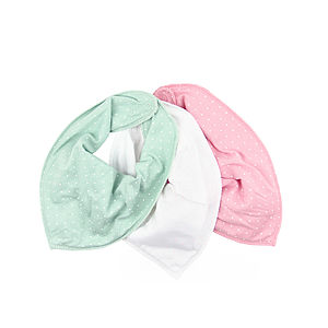 Newborn Aveline Three Pack Bib Scarf - baby care