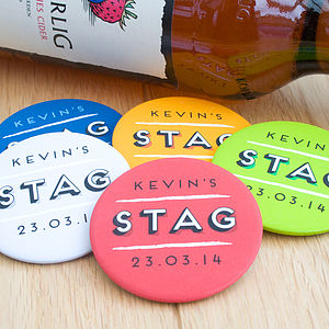 Personalised Stag Party Badges - hen party styling