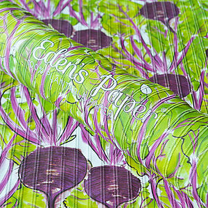 Beetroot 100% Plantable Wrapping Paper - gardening