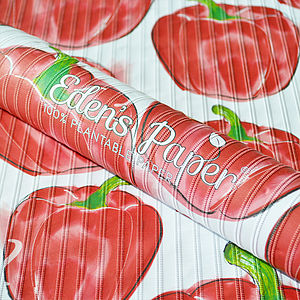 Bell Pepper 100% Plantable Wrapping Paper - gardening