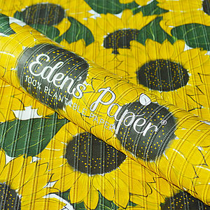 Sunflower 100% Plantable Wrapping Paper