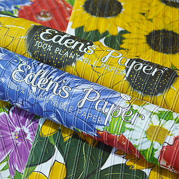 Flower Power Plantable Wrapping Paper Pack