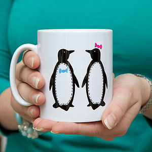 Personalised Penguin Pairs Mug - mugs
