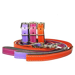Soft Cowhide Small Dog Collar - dogs