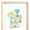 Retro Cacti Limited Edition Screen Print