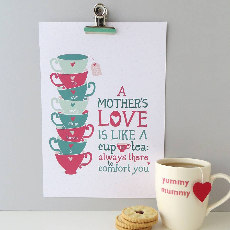 Personalised A Mothers Love Gift Print