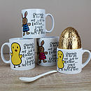 Personalised Easter Character Mug