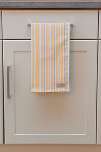 Ledbury Ochre Grey Tea Towel - cooking & food preparation