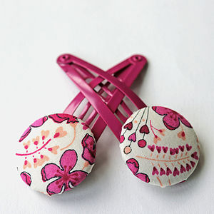 Liberty Fabric Hair Clips - hair accessories