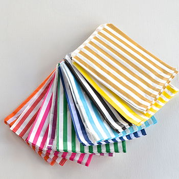 Striped Paper Bags