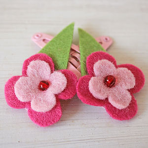 Flower Hair Clips - wedding thank you gifts