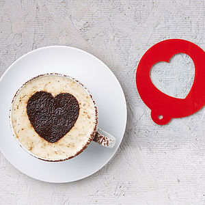 Heart Coffee Stencil - food & drink gifts