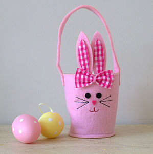 Pink Bunny Basket - winter sale
