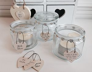 Mother's Day Jars With Heart Message Tag - gifts for the home