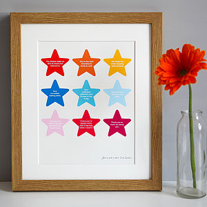 Personalised 'Mum, You're A Star' Print